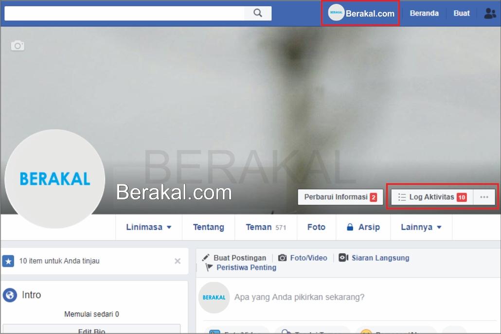 cara masuk ke log aktivitas facebook