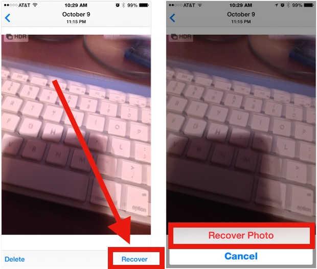 cara mengembalikan foto yang terhapus di recently deleted