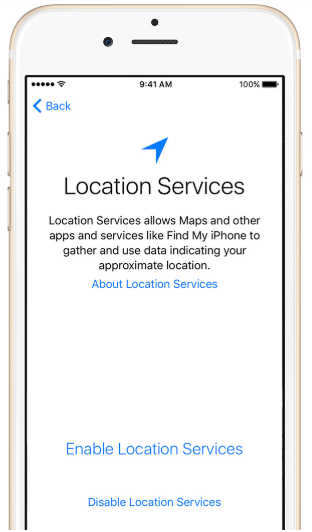 location services iphone