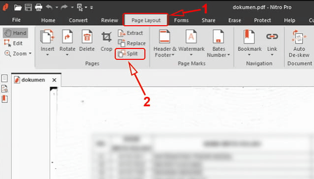 memisahkan file pdf