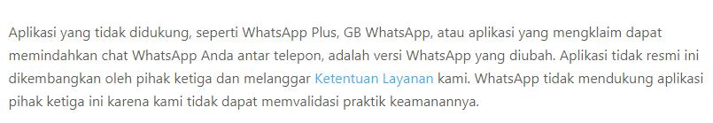 pernyataan WhatsApp