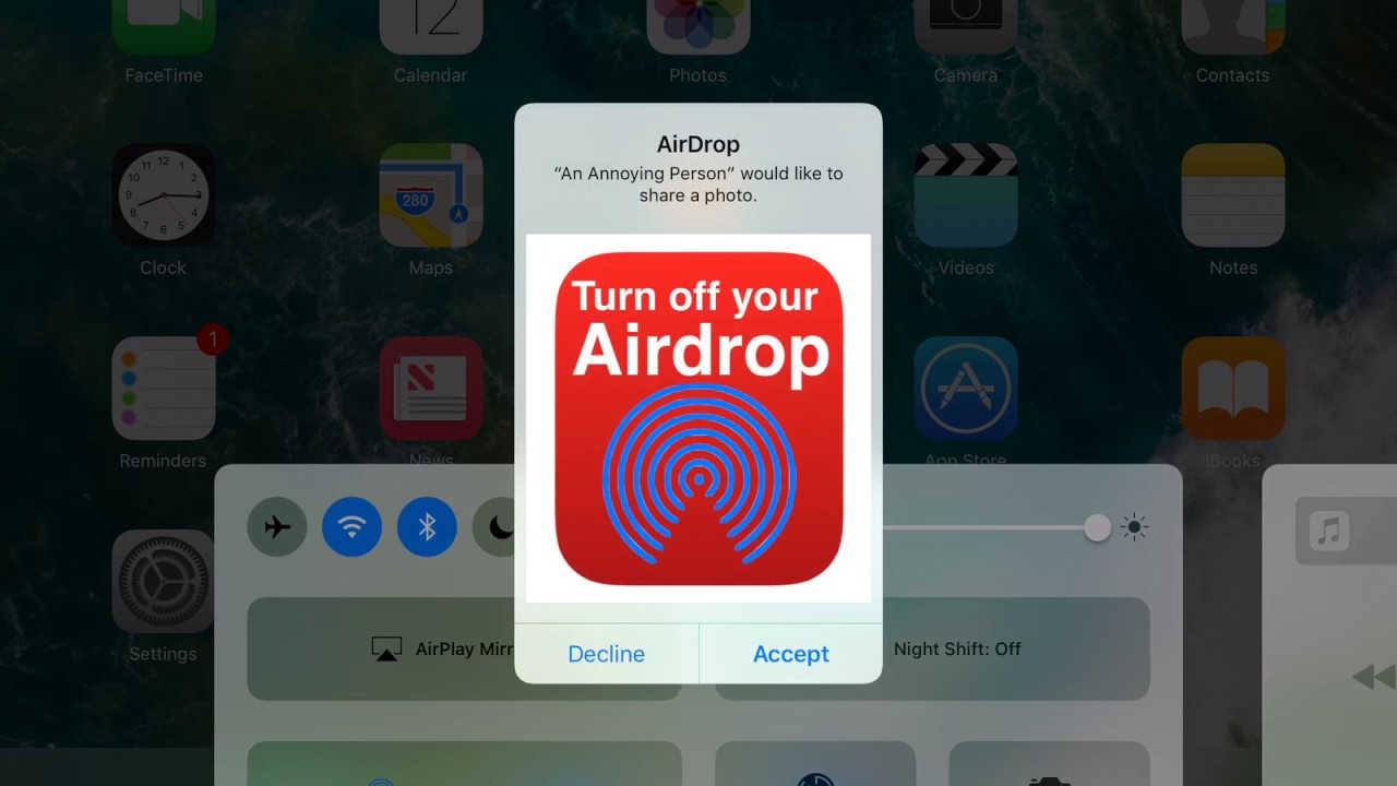 turn off airdrop