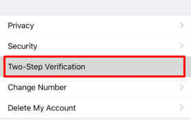 two step verification whatsapp iphone