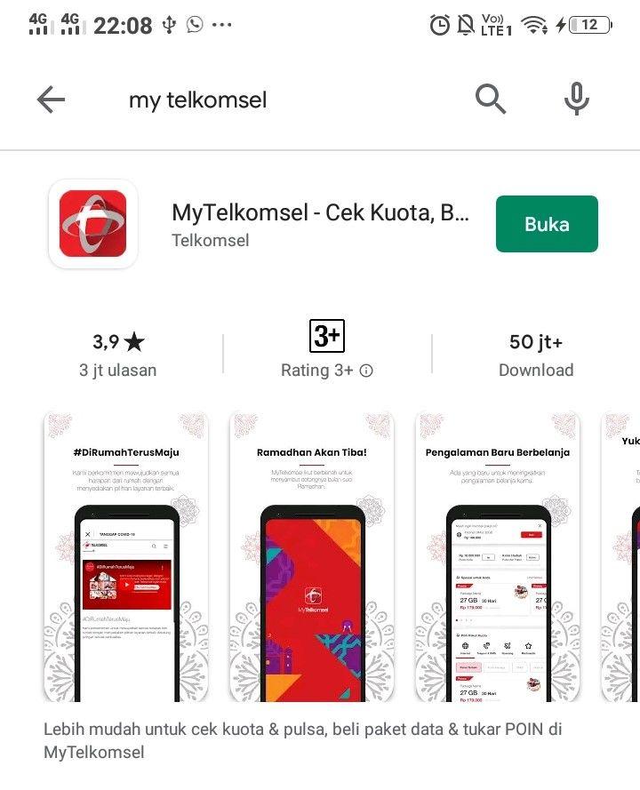 Aplikasi my telkomsel