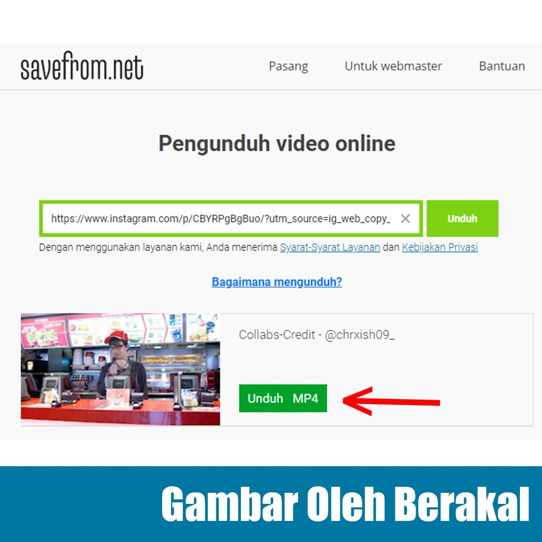 Cara Download Video di Instagram
