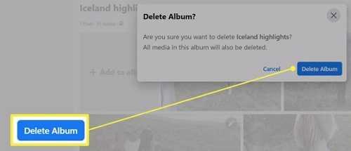 Delete album photos
