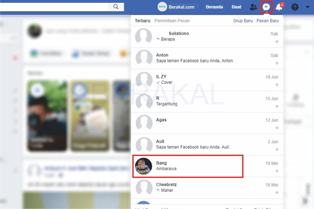 cara menghapus pesan di facebook orang lain