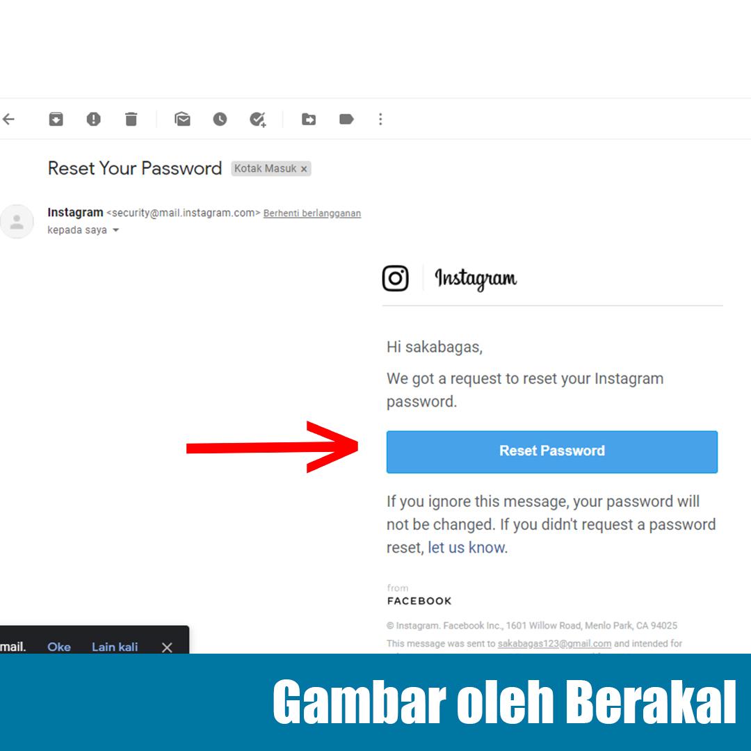 gmail notification instagram
