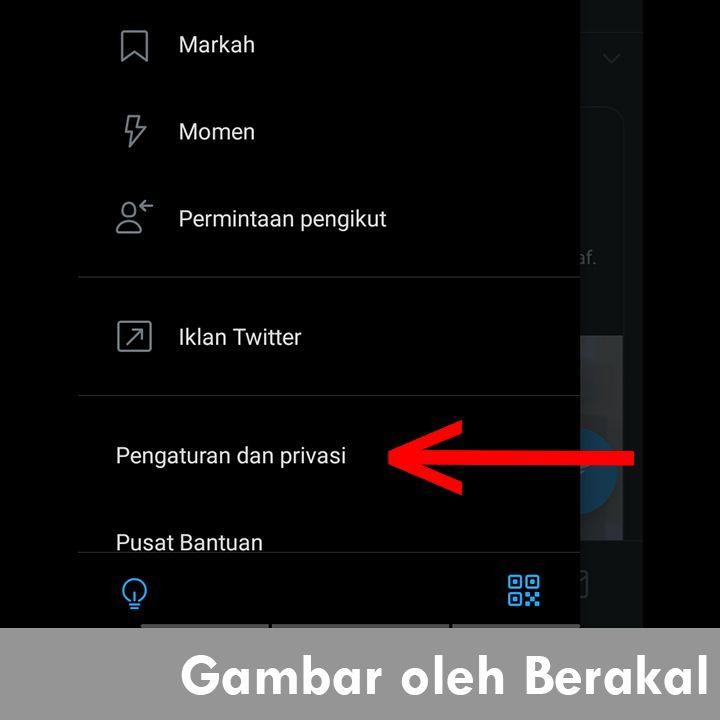 pengaturan dan privasi twitter