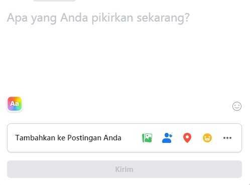 postingan facebook