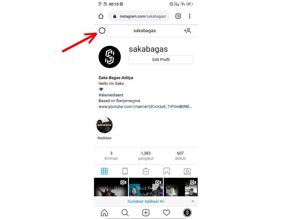 setting instagram