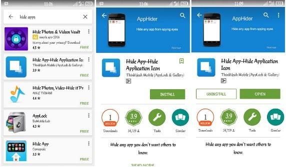 Cara menyembuntikan aplikasi via root
