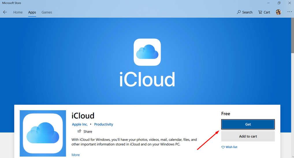 cara download icloud di pc windows