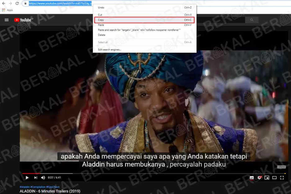 download subtitle indonesia di video youtube