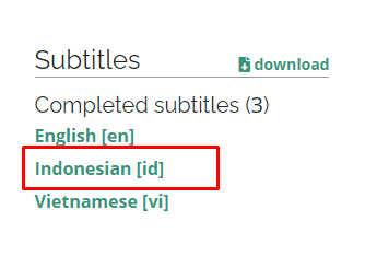 download subtitle indonesia di youtube