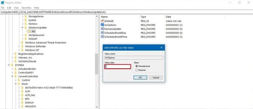 edit DWORD 32bit value