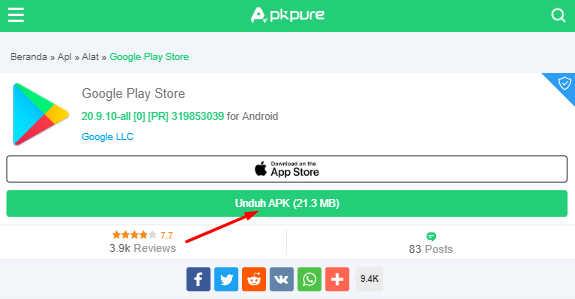 unduh apk google play store