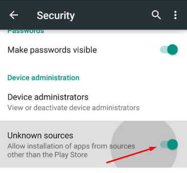 unknown sources android