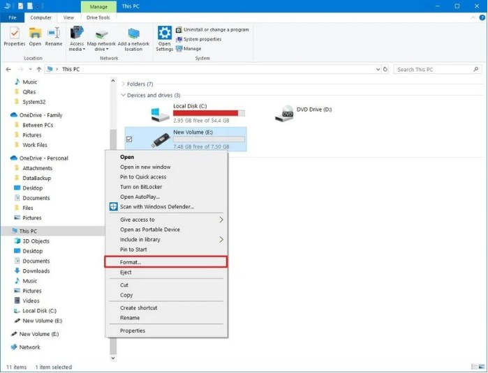 Cara Format Flashdisk Via File Explorer