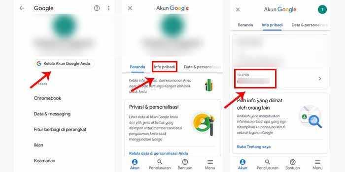 Cara Mengganti Nomor HP di Gmail di Android