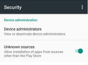 Izinkan akses penginstalan dari sumber tidak dikenal