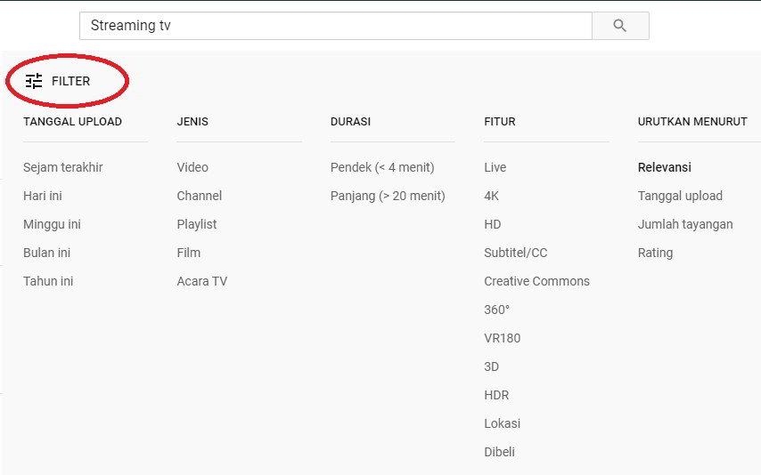 Klik menu filters