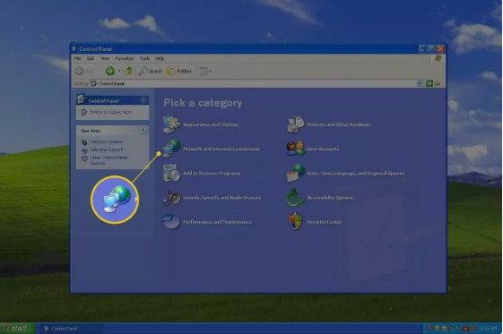 Klik icon internet and conection