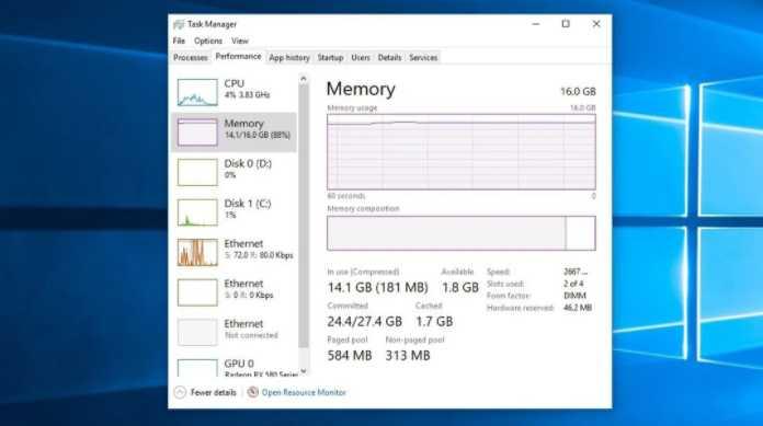 Mengatasi RAM dengan Windows Task Manager