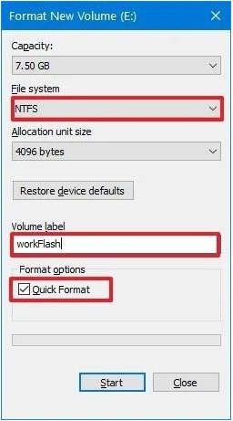 System Format file explorer