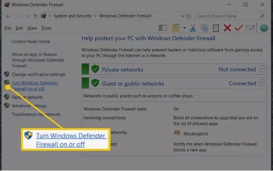 cara mematikan firewall windows 7,8 dan 10