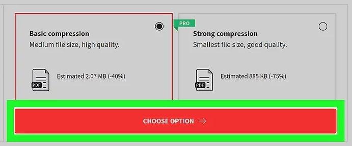 choose option