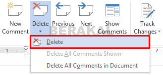 delete comments word