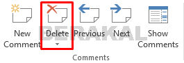 delete option