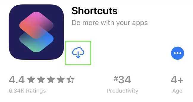 download shortcuts iOS