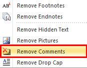 menghilangkan comment dokumen word