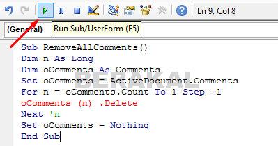 menghilangkan comment word