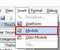 module option vba