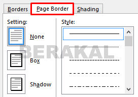 page border word