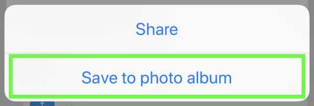 save youtube video to photo album