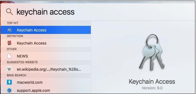 Cara Mengetahui password wifi di Mac OS