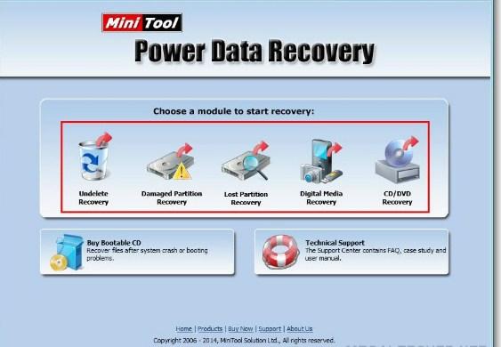 Minitool RECOVERY data