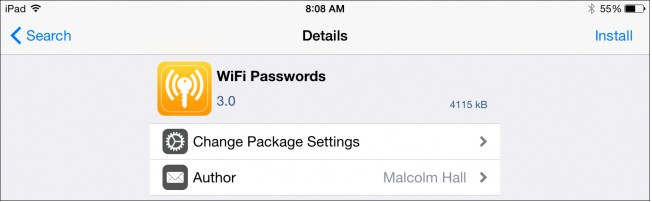 Tweak Wifi Password on iOS