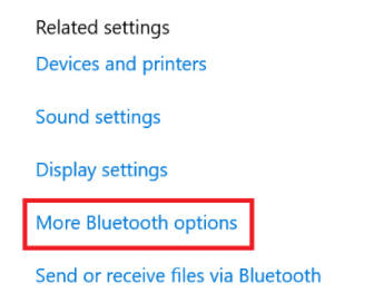 bluetooth option