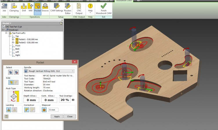 Woodwork for Inventor featur