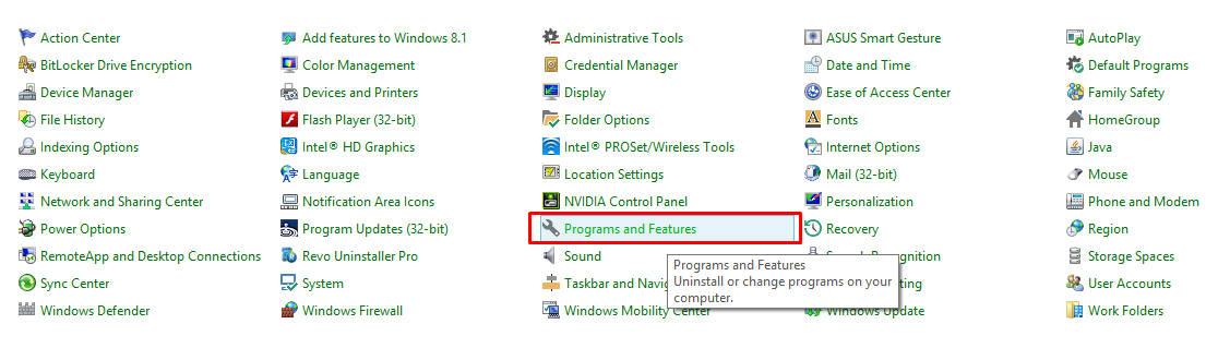 uninstall aplikasi di windows 7