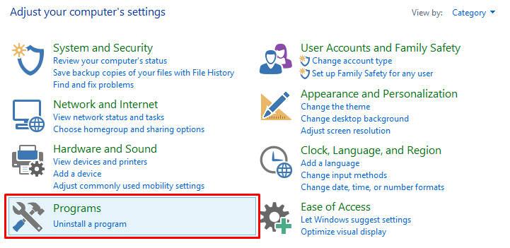 uninstall aplikasi windows 7