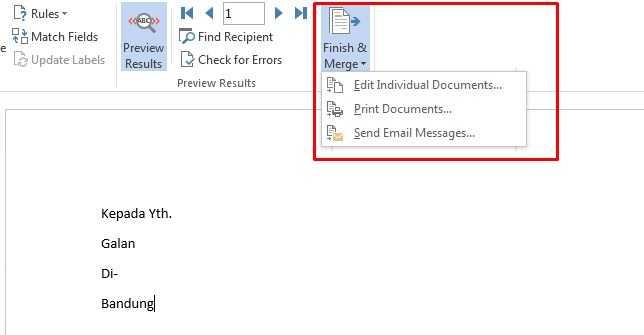 cara membuat mail merge di excel 2010
