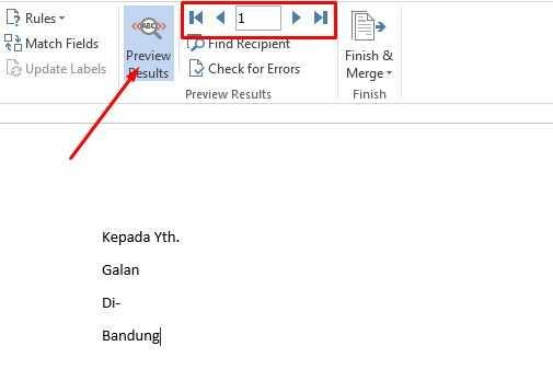 cara membuat mail merge di excel
