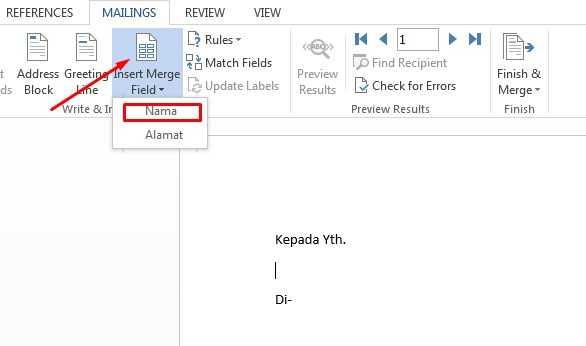 cara membuat mail merge undangan
