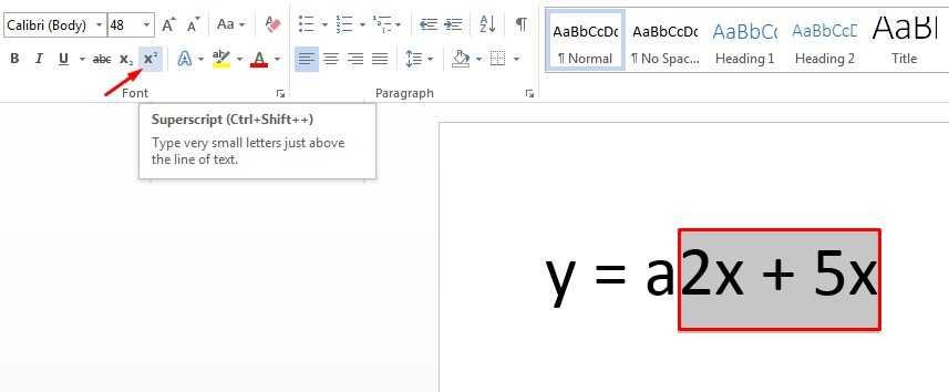 cara membuat pangkat di word 2013